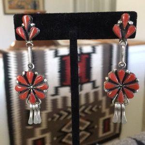 Jewelry - Beautiful coral southwest earrings